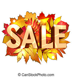 Vector illustration of Sale word