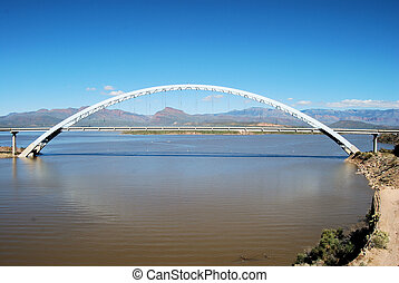 The Span - Roosevelt Bridge located at Lake Roosevelt,...