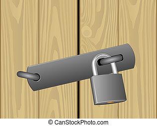 padlocked door - padlocked wooden door