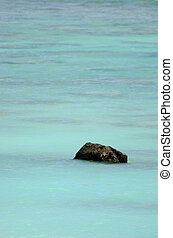 Black Rock in Rarotonga, Cook Islands - Black Rock, or...