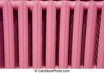 Pink radiator