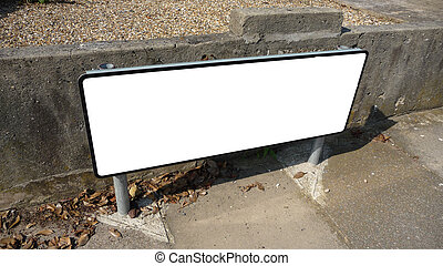 Blank Street Sign - A blank customizable street sign