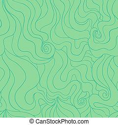 Stylized water seamless pattern - Vector seamless pattern...