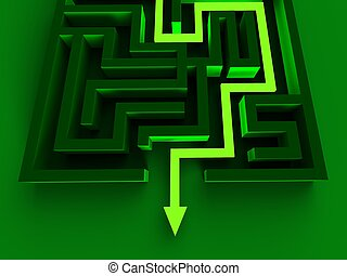 Solving Maze Shows Puzzle Way Out Strategy