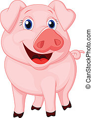 Cute pig cartoon - Vector illustration of Cute pig cartoon