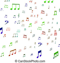 Musical Notes Shows Music Audio Sound Or Entertainment
