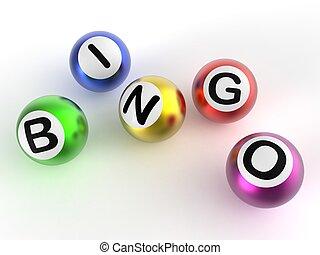 ビンゴ, ボール, ショー, 運, ∥において∥, 宝くじ