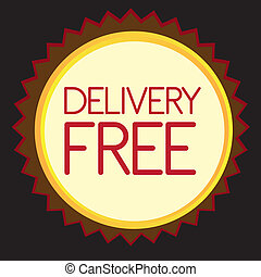 delivery free tag