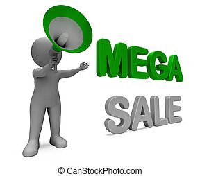 Mega Sale Character Shows Reductions Savings Save Or...