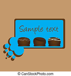 chocolate candy over brown background vector illustration