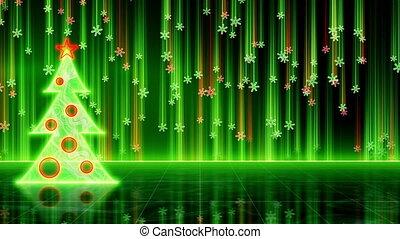 futuristic christmas tree loop