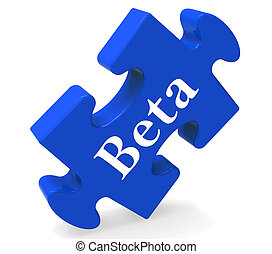 Beta Puzzle Shows Demo Software Or Development - Beta Puzzle...