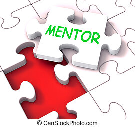Mentor Puzzle Shows Advice Mentoring Mentorship And Mentors...