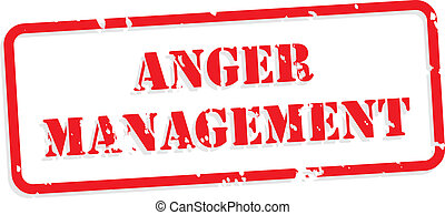 Anger Management Rubber Stamp - Anger management red rubber...