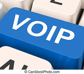 Voip Key Means Voice Over Internet Protocol - Voip Key...