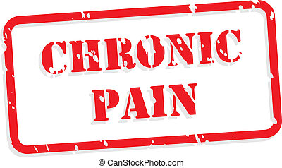 Chronic Pain Rubber Stamp - Chronic pain red rubber stamp...
