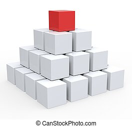 Top Of Pyramid Shows Hierarchy Or Leader - Top Of Pyramid...