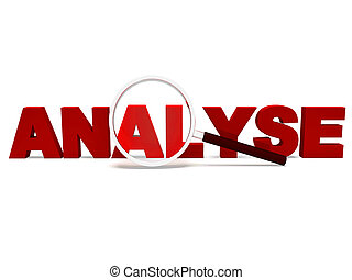 Analyse Word Shows Analytics Analysis Or Analyzing - Analyse...