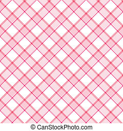 Pink Stripe Plaid - Plaid background pattern in shades of...