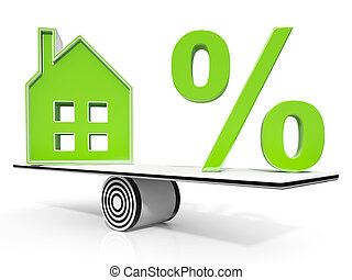 House And Percent Sign Meaning Investment Or Discount -...