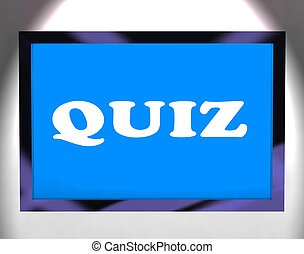 Quiz Screen Means Test Quizzes Or Questioning Online