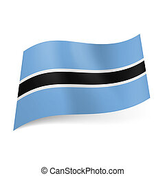 State flag of Botswana - National flag of Botswana: white...