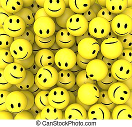 Smileys Show Happy Cheerful Faces - Smileys Show Happy...