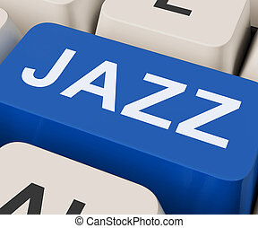 Jazz Key Shows Concert Band Or Music - Jazz Key Showing...