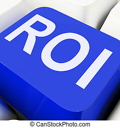 Roi Key Shows Return On Investment Or Finance - Roi Key...