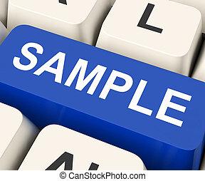 Sample Key Means Trial Or Sampling - Sample Key On Keyboard...