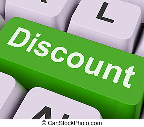 Discount Key Means Cut Price Or Reduce - Discount Key On...