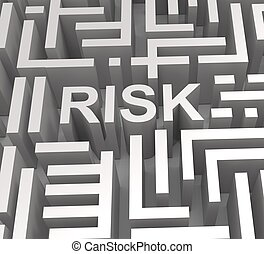 Risky Maze Shows Dangerous Or Risk - Risky Maze Shows...