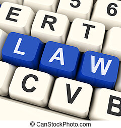 Law Key Shows Legal Or Judicial - Law Key Meaning Legally...