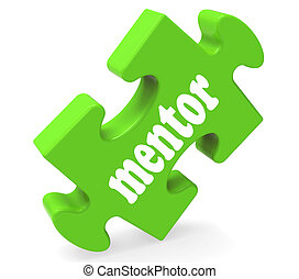 Mentor Puzzle Shows Advice Mentoring And Mentors - Mentor...