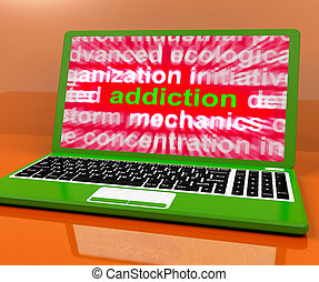 Addiction Laptop Meaning Obsession Craving And Attachment...