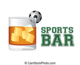 sports bar - esports bar design over white background vector...