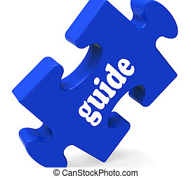 Guide Puzzle Showing Consulting Instructions Guideline And...