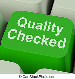Quality Checked Key Shows Product Tested Ok - Quality...