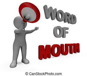 Word Of Mouth Character Showing Communication Networking...