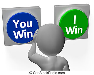 You I Win Buttons Show Opposition Or Gaming