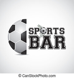 sports bar design over gray background vector illustration...