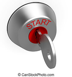 Start Key Showing Car Ignition - Start Key Showing Car Or...