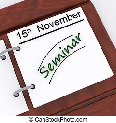 Seminar Appointment Shows Schedule Scheduling And Presentation