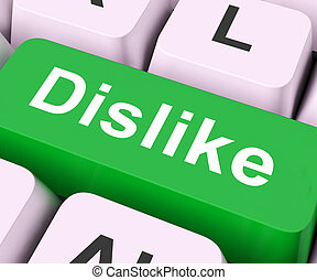 Dislike Key Means Hate Or Loathe - Dislike Key On Keyboard...