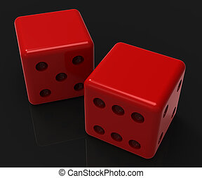 Blank Red Dice Shows Copyspace Gambling And Luck