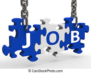 Jobs Puzzle Shows Application Recruitment Employment Or...