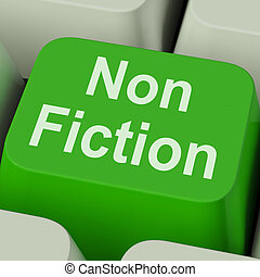Non Fiction Key Shows Educational Material Or Text Books -...