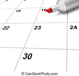 Blank Calendar Shows Plan Appointment Schedule Or Event -...