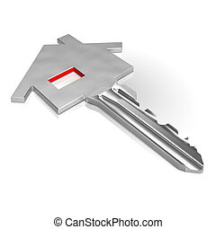 Key With House Showing Home Security Or Protection
