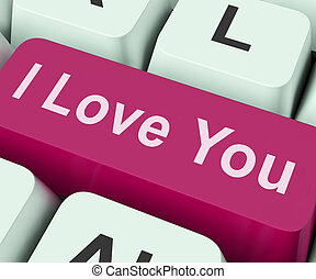 I Love You Key Shows Loving Or Romance Online